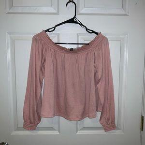 H & M cropped long sleeve shirt
